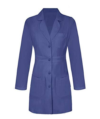 Panda Uniform Custom Women 34 Inch Medical Consultation Lab Coat-Navy-3XL