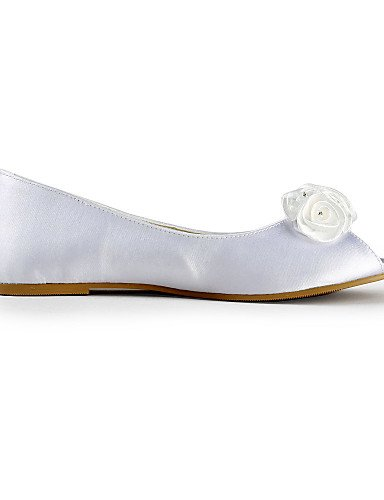 ZQ under Bailarina Planos 1in white Mujer Marfil Boda Fiesta under de y Blanco Abierta Zapatos 1in Punta Noche ivory boda gqrg6F