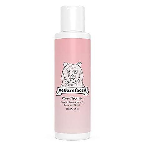 Limpiador de rosas de BeBarefaced - Limpiador facial vegano para ...