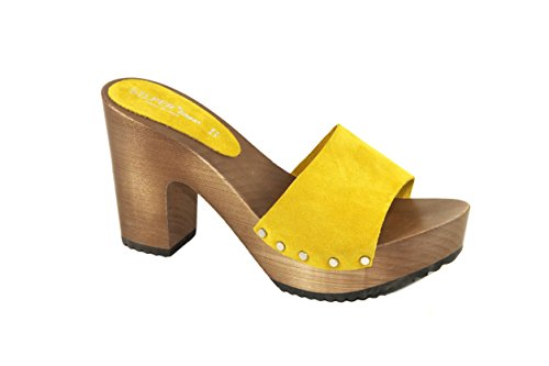 Silfer Shoes, Damen Clogs & Pantoletten  Gelb Giallo