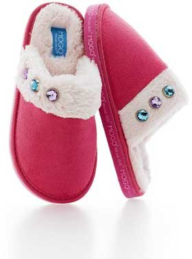 Mogo Pink Mosies Get Mogo Slippers   Youth Size 13 1   Charm Letter Collection Tin