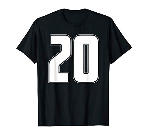 Halloween Group Costume #20 Sport Jersey Number 20 20th Bday T-Shirt