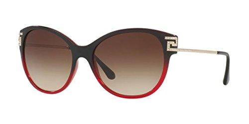 Versace VE4316B Sunglasses 507513-57 - 57mm Lens Diameter Transparent Red Gradient Black - Cat Sunglasses Versace