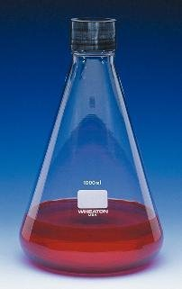 Wheaton Science Products 635165 Borosilicate Glass Erlenmeyer Flask, 1000 mL Capacity
