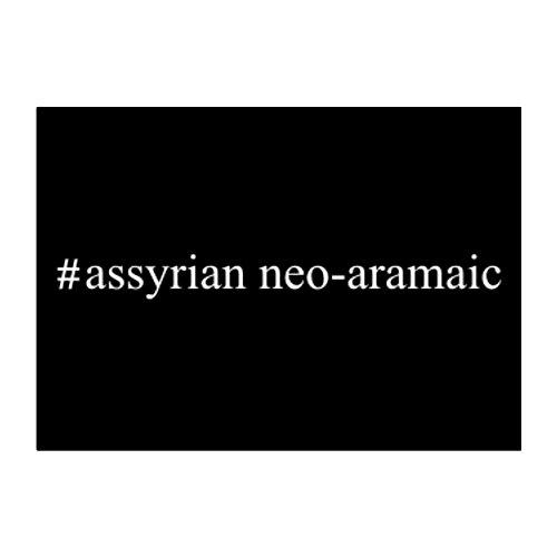 - Teeburon Assyrian Neo Aramaic Hashtag Pack of 4 Stickers