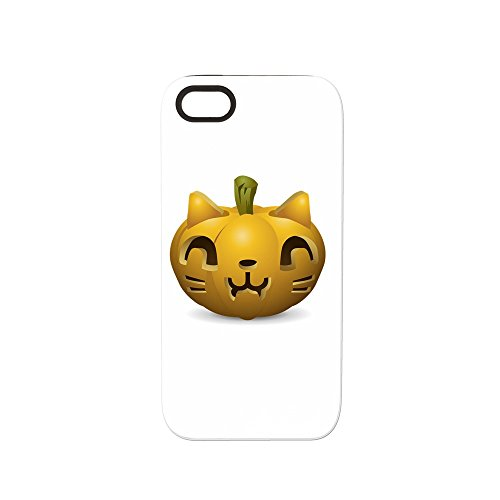 iPhone 5 or 5S Tough Rugged Case Kitty Cat Halloween -