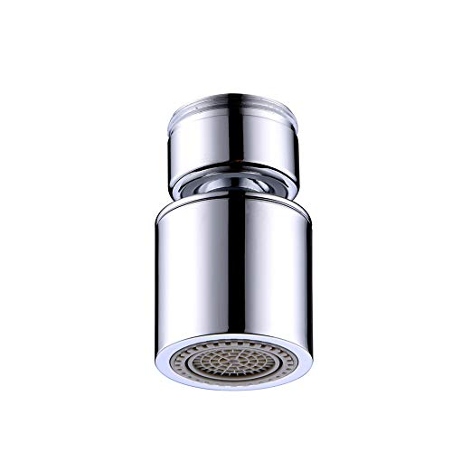 Dual-function Faucet Aerator with 360-Degree Swivel, 15/16 Inch - 27UNS Male Thread, Chrome ()
