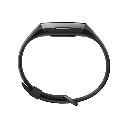Fitbit Charge 3 Fitness Activity Tracker, Graphiteblack, One Size (S & L Bands Included)
