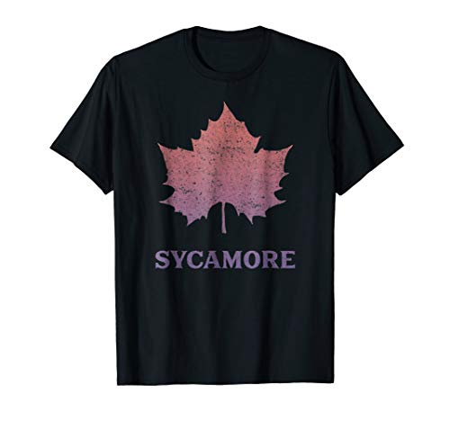 Sycamore Leaf Shirt - Nature Lover Shirt -Distressed T-Shirt ()