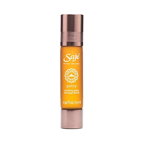 Saje Gutzy Essential Oil Blend, Soothes the Tummy, Roll-On Application, 100% Natural (0.34 fl - Oil Wellness Soothe