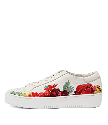 DJANGO & JULIETTE Lusty White Bright Em Womens Sneakers Casuals Shoes WHITE BRIGHT EM LEATHER
