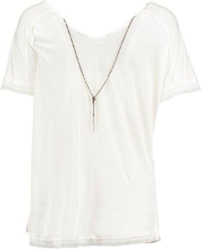 Garcia Damen Shirt M60021 Gr. 44 (Herstellergröße: XXL) Beige (spring white 86)