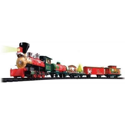 Eztech Christmas Train Set - North Pole Express 37297 - Battery Powered Wireless Remote Control. Plays Christmas - Christmas Pole Music North