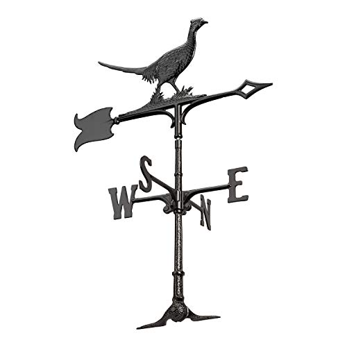 (Whitehall Products Pheasant Weathervane, 30-Inch, Rooftop Black )