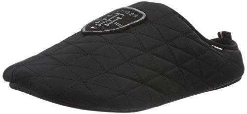 Tommy Hilfiger Herren D2285OWNSLIPPERS 1E Pantoffeln, Schwarz (Black 990), 43/44 EU