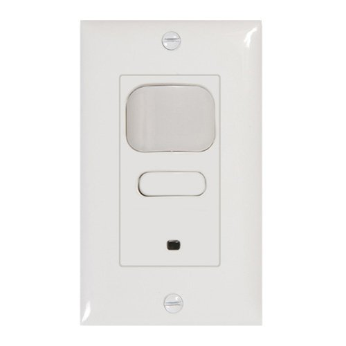 Hubbell Building Automation LHIRS1-G-WH LightHawk2 Passive Infrared Single Relay Wall Switch Sensor, Ground Wiring, 1 Button, 1000' Sensing Distance, White by Hubbell Building Automation