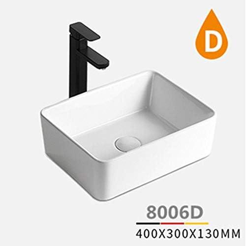 洗面ボール 内閣洗面所洗面化粧台については、モダンなバスルーム長方形の上白船バニティシンク 洗面器 (Color : White, Size : 40x30x13cm)
