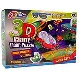 Grafix Childrens Giant 3D 43 Piece Alien City Floor Puzzle & 3D Glasses