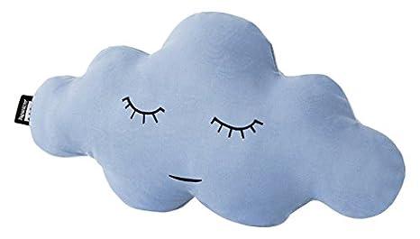 Paparajote Factory Cloud S Cojín de algodón con Forma de Nube, 50 x 25 cm, Celeste, 50 x 16 x 25 cm