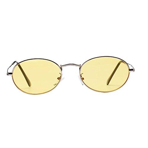 UV400 blanca Gafas Astilla Espejo 50 de Accesorios Vintage Hombre Dolity Unisex Amarillo mm Mujer Plano Metal Wgnqv14P7