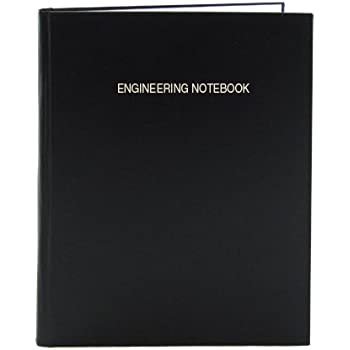 """BookFactory Black Engineering Notebook / Graph Paper Notebook / Quadrille 4 X 4 Quad Ruled, 168 Pages, 8"""" x 10"""" (.25"""" Lab Grid Format), Black, Smyth Sewn Hardbound (LIRPE-168-SGR-A-LKT4)"""