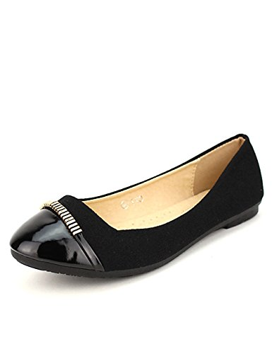 Cendriyon Ballerine Noire SEILA Chaussures Femme Noir