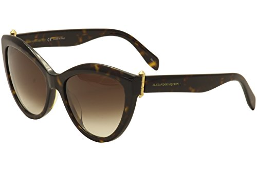Alexander McQueen Women's AM0003S Havana/Brown Gradient - Mcqueen Women Alexander Sunglasses
