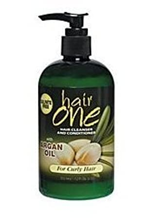 Hair One Cleanser and Conditioner with Argan Oil for Curly Hair 12 oz. by Hair One By Fiske