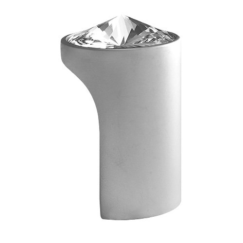 (DecoUnique Pull Knob With Swarovski Crystal, 1.02 inch, Satin Chrome Finish, 721 SC)