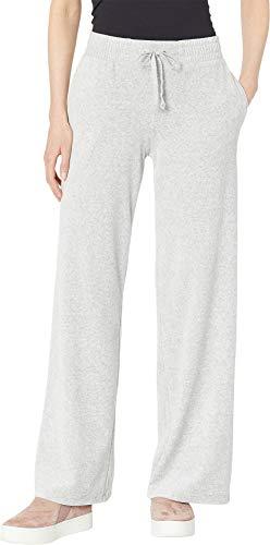 Juicy Couture Women's Track Velour Malibu Pants Silver Lining Medium ()