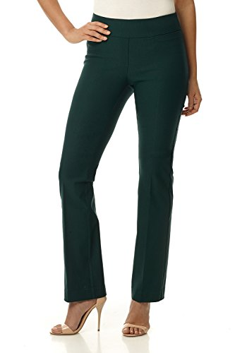 Rekucci Women's Ease in to Comfort Boot Cut Pant (6,Hunter Green) ()