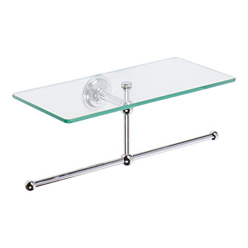 Ginger 2636T/PC London Terrace Toiletry Shelf with Towel Bar, Polished Chrome