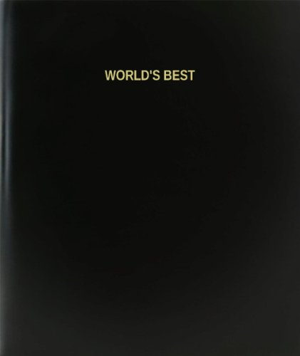 BookFactory® World's Best Log Book / Journal / Logbook - 120 Page, 8.5''x11'', Black Hardbound (XLog-120-7CS-A-L-Black(World's Best Log Book)) by BookFactory