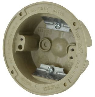 Allied Moulded Products 9305 Fiberglass Reinforced Polyester BMC Old Work Ceiling Fixture Support Box 3-1/2 Inch x 1-3/4 Inch 14 Cubic-Inch FiberglassBox