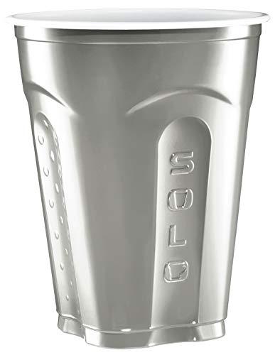 Solo Squared Cups, 18 Oz, Silver, 60 Count