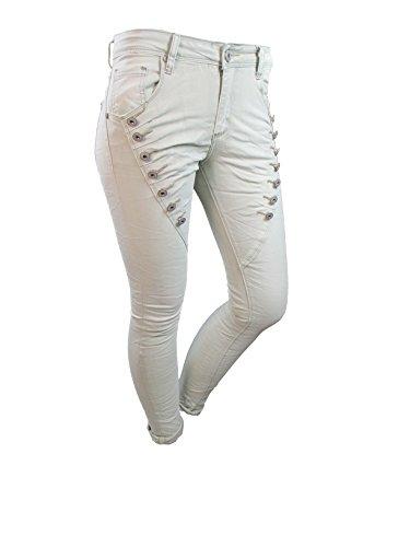 Jeans Donna Boyfriend Mozzaar Chiaro Beige 6FTw1q