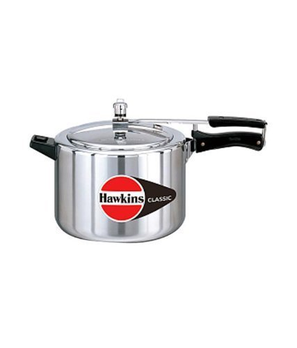 HAWKINS?Classic CL8T 8-Liter New Improved Aluminum Pressure Cooker, Small, Silver by Hawkins