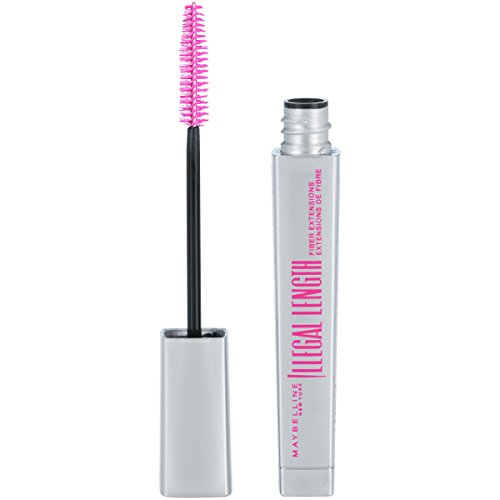 Maybelline New York Illegal Length Fiber Extensions Washable Mascara, Blackest Black, 0.22 fl. oz.