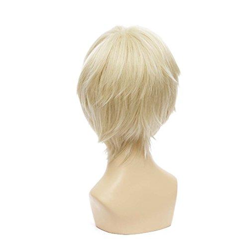 Kadiya Axis Powers Hetalia England Short Blonde Cosplay Hair Wig Arthur Kirkland