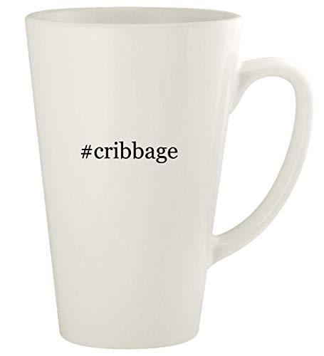 #cribbage - 17oz Ceramic Latte Coffee Mug Cup, White