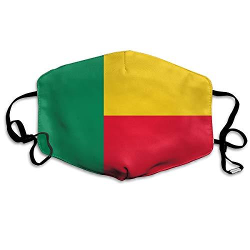 Benin Flag Mouth Mask Unisex Anti-dust Cotton Face Mask for Men and Women