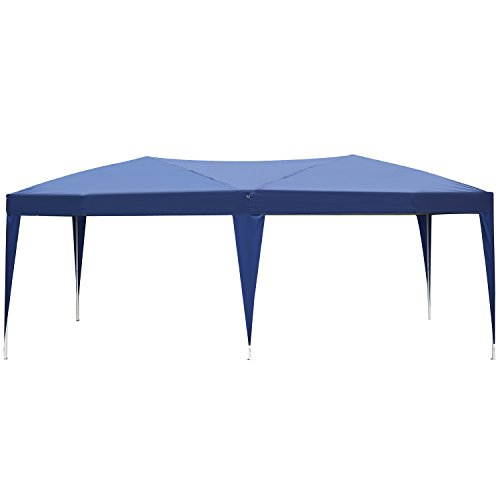 Outsunny Easy Pop Up Canopy Party Tent, 10 x 20-Feet, Royal (Tailgating Canopy Party Tent)