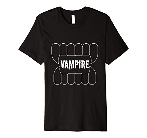 Wampire Teeth Bloody Graphic Halloween Party Costume -