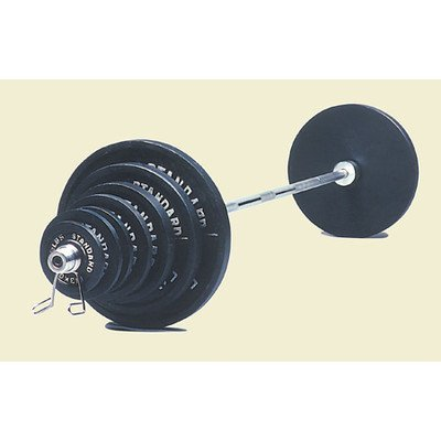 USA Sports 300 lbs Olympic Weight Set in Black