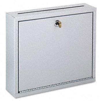 Buddy wall-mountable Interofficeメールコレクションボックス、12 W x 3d X 10h、プラチナ( 2ケース B002FTMING
