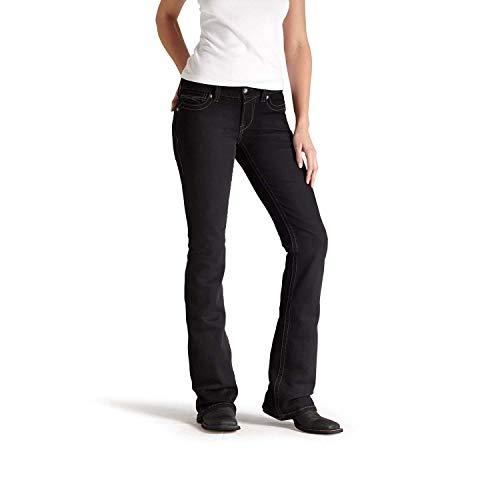 ARIAT Women's R.e.a.l Mid Rise Black Boot Cut Jean Size 28 ()