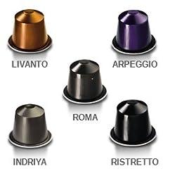 50 Nespresso Originalline Capsules: 10 Indriya, 10 Ristretto, 10 Roma, 10 Arpeggio, 10 Livanto - ''Not Compatible With Vertuoline''