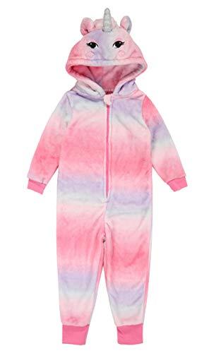 Children Animal Unicorn Multi-Color Rainbow Purple Cosplay Costume Pajamas Onesies Sleepwear (Rainbow, 9-10 -