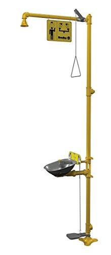 Drench Shower With Eyewash, Yellow Bradley Combination Drench Shower