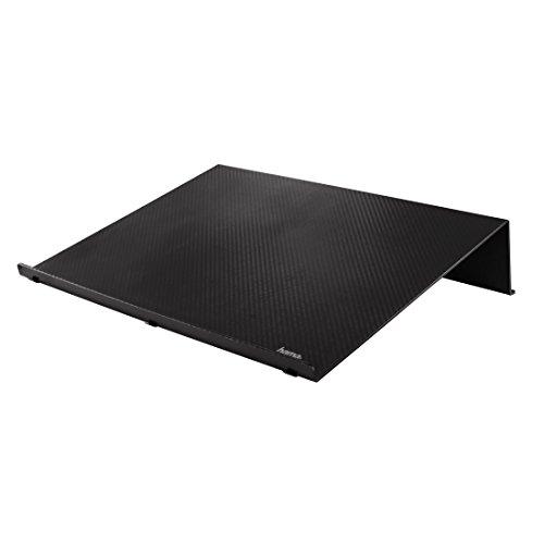 Hama Laptopständer in Carbonoptik (rutschfeste Gummifüße, ideal auch für Tablets, eBook-Reader und Bücher, 40 x 30 x 8 cm) schwarz